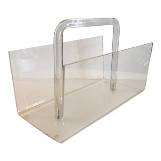 Lucite Magazine Rack For Sale