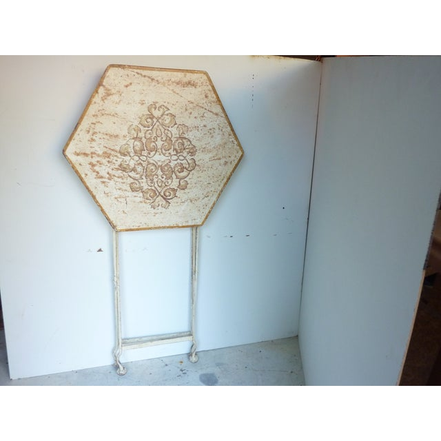 Late 20th Century Painted Metal Folding Table For Sale - Image 5 of 6