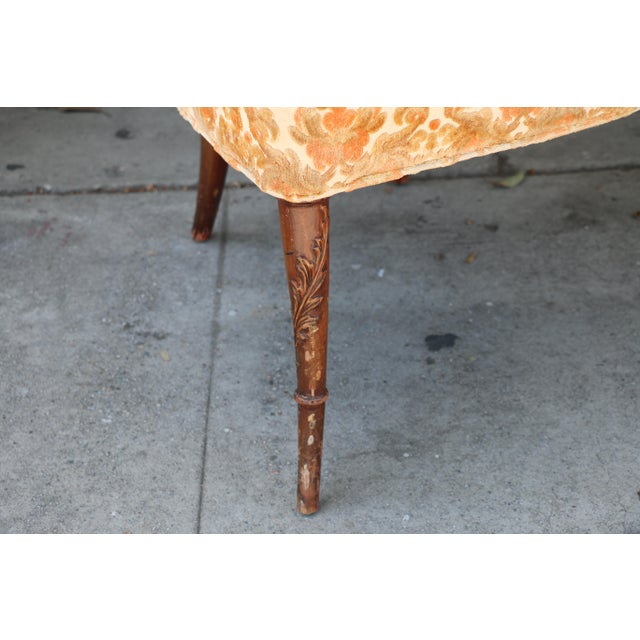 Fabric 1940's Pair of Carved Chairs For Sale - Image 7 of 12