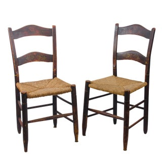 Painted Fancy Side Chairs - a Pair