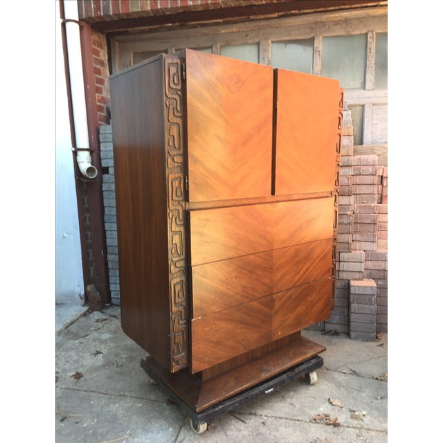 Brutalist Armoire by United Furniture - Image 3 of 7