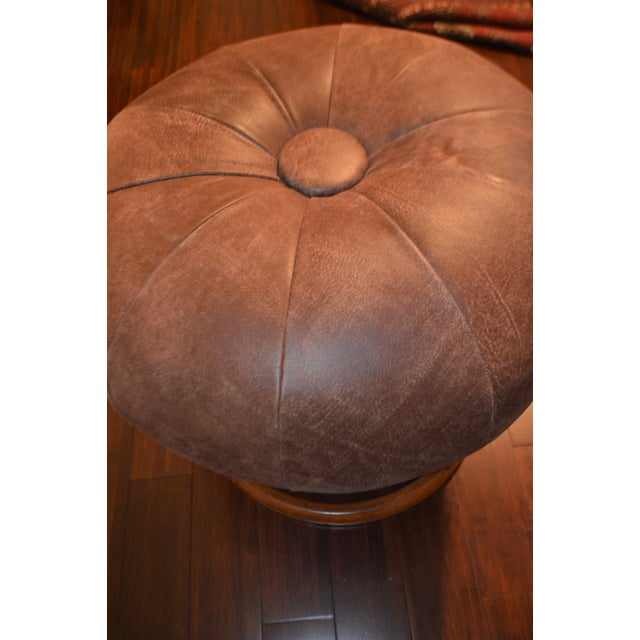 1950s Vintage Bentwood Swivel Stool For Sale - Image 4 of 10