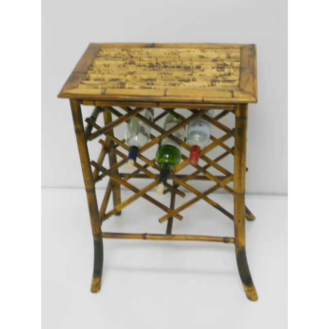 Vintage Bamboo Wine Rack - Image 4 of 4