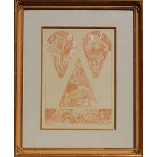 Vintage Mucha Prints Plate 19 Print For Sale
