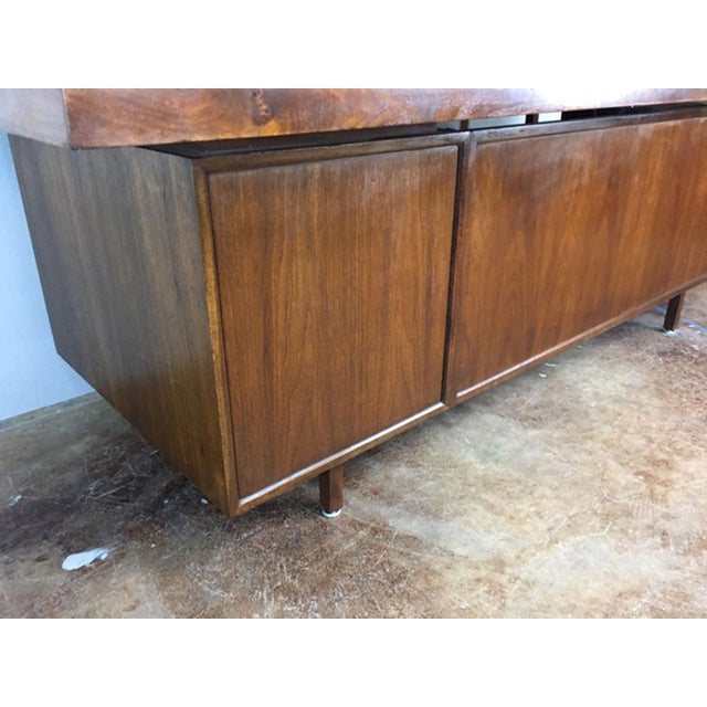 Large Walnut Executive Desk - Image 7 of 11