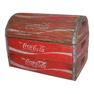 20th Century Rustic Coca-Cola Trunk For Sale