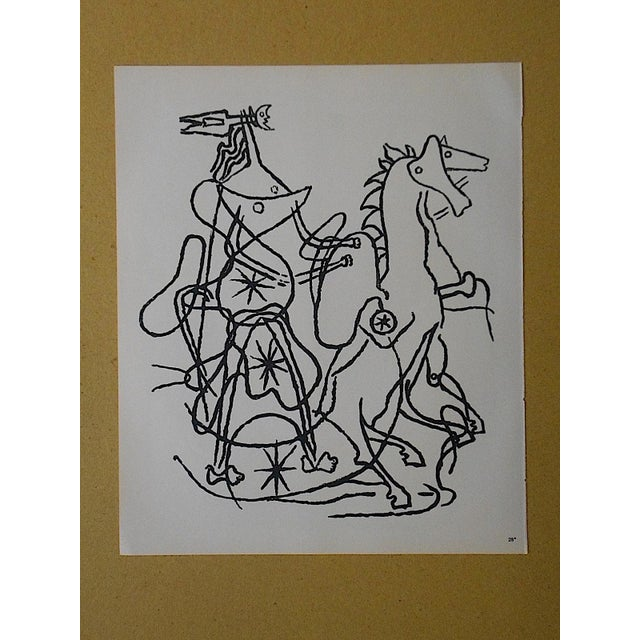 Vintage Lithograph Equine by Georges Braque - Image 3 of 3