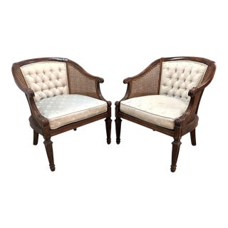 1980s Statesville & Ross Louis XV Style Cane Chairs - a Pair For Sale