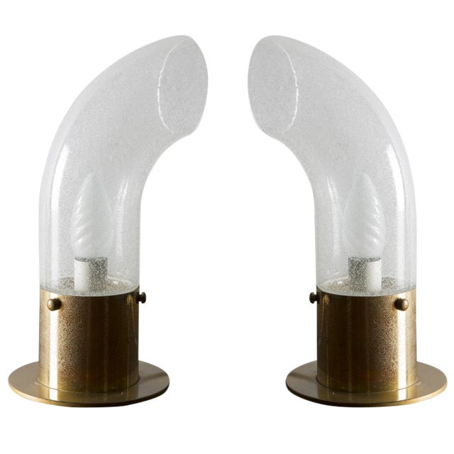 Set of Two Table Lamps by Carlo Nason - Murano For Sale