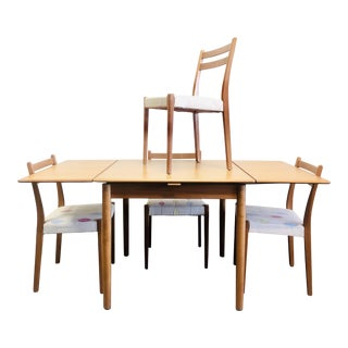 1970s Danish Modern Svegards Markaryds Teak Dinette and Four Chairs - 5 Pieces For Sale