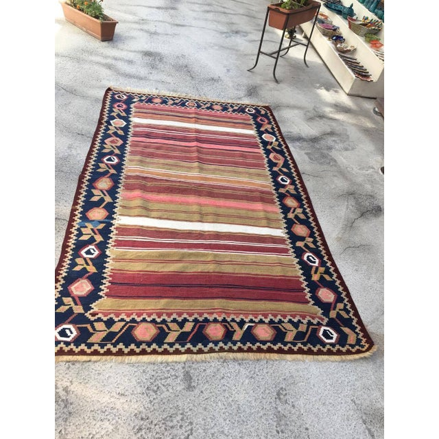 Turkish rug Anatolian rug Oushak Rug Vintage Rug 77x47 inches Rug 100 % organic wool Professionally cleaned ready to use...