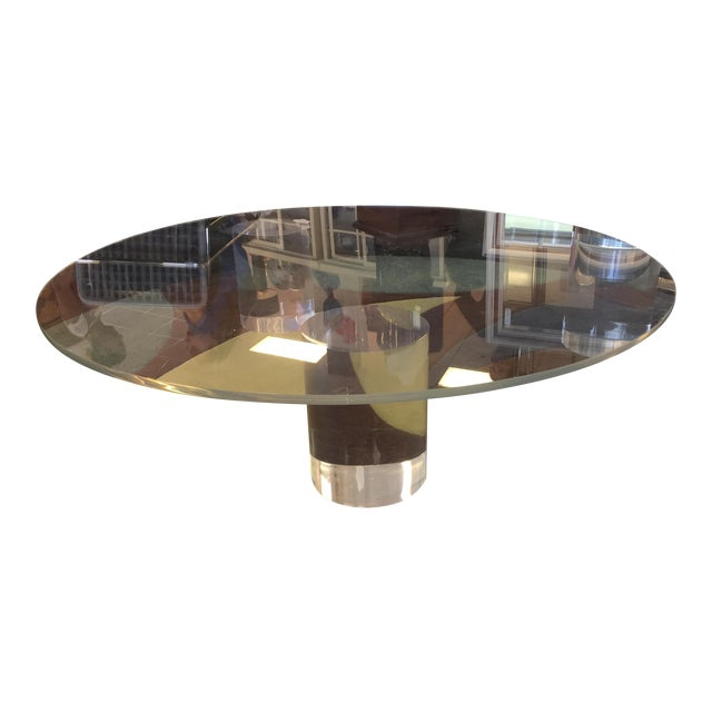 Mid-Century Modern Lucite Column Coffee Table - in the Style of Charles Hollis Jones For Sale - Image 3 of 7