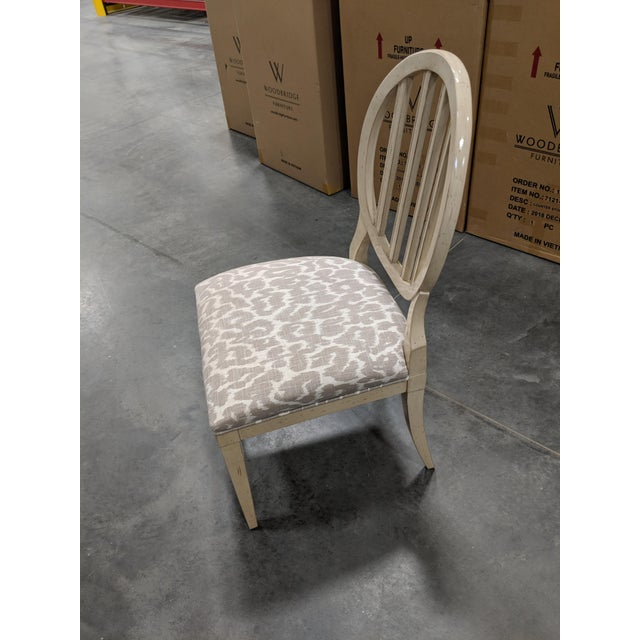 This dining side chair was a showroom sample used only for display in our High Point showroom during furniture market. The...