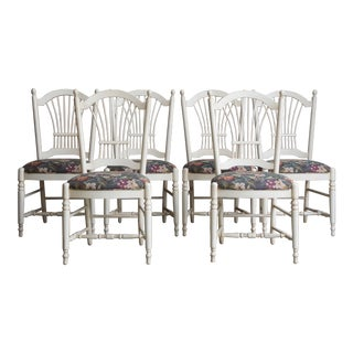 Ethan Allen Country French Wheatback Dining Chairs - Set of 6