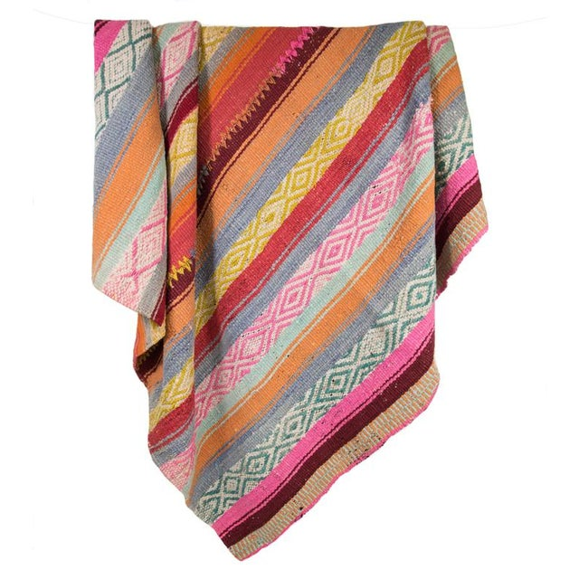 Handwoven Peruvian Throw For Sale