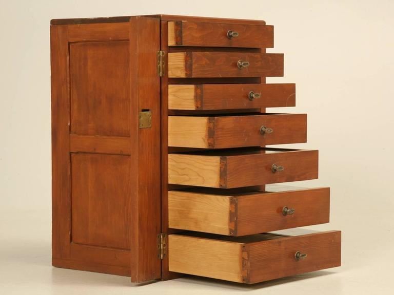 specimen cabinet from england | chairish