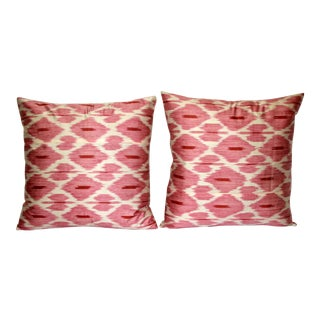 Fabric Ikat Pillows - A Pair