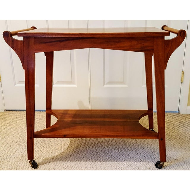 Mid-Century Teak Serving Cart - Image 3 of 6