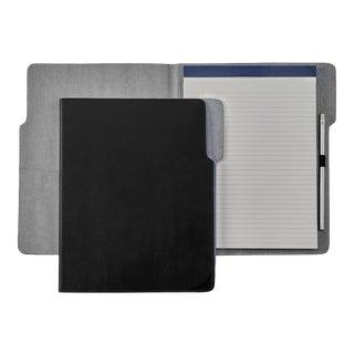 Hugo Folder, Bonded Leather in Black For Sale