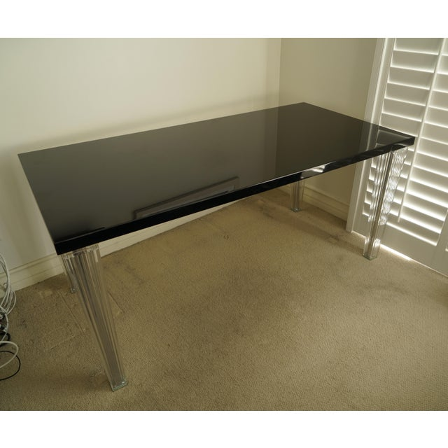 "Contemporary Kartell ""Top Top"" Black Gloss Dining Table For Sale - Image 13 of 13"