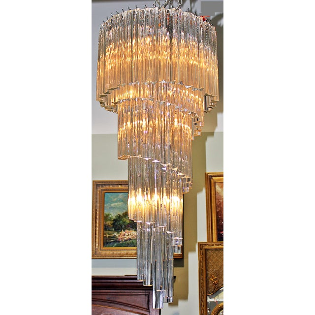 Italian crystal spiral modern chandelier chairish italian crystal spiral modern chandelier image 5 of 11 mozeypictures Images