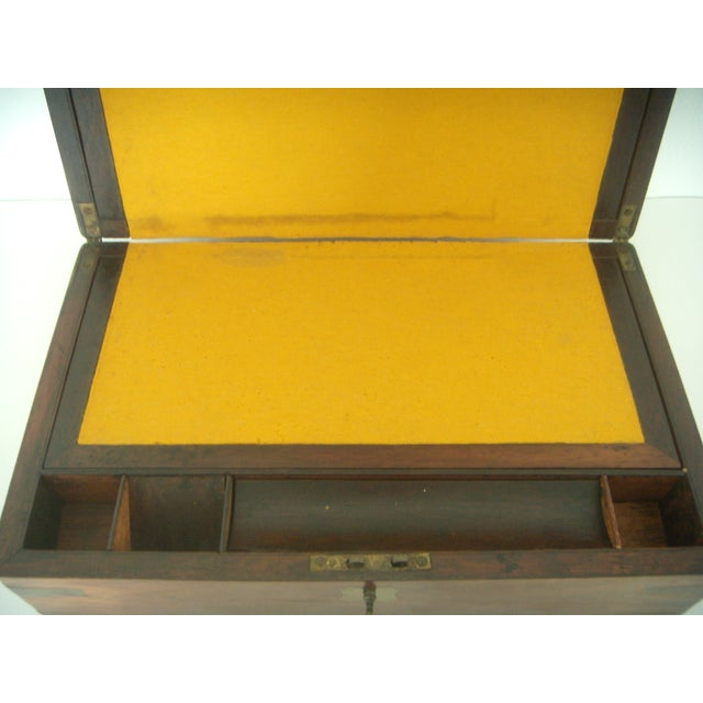 Antique English Walnut Slope Top Deed/ Writing Box For Sale In Tampa - Image 6 of 10