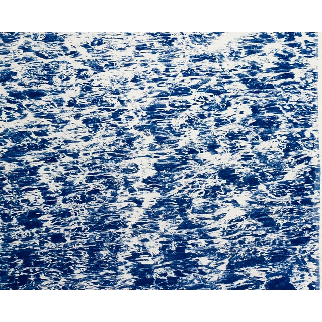 """Blue Triptych """"The Cove"""" / Cyanotype Print on Watercolor Paper / Limited Edition / 100 X 210 CM For Sale - Image 8 of 12"""