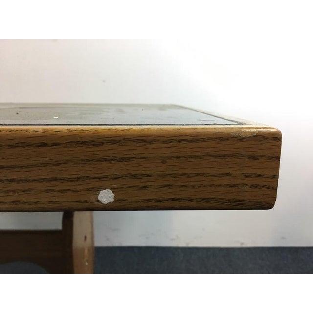 Vintage Carved Wood & Ceramic Tile Top Table - Image 4 of 4