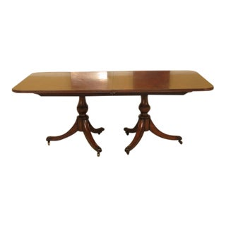 Maitland Smith #3530-155 Mahogany Dining Room Table For Sale