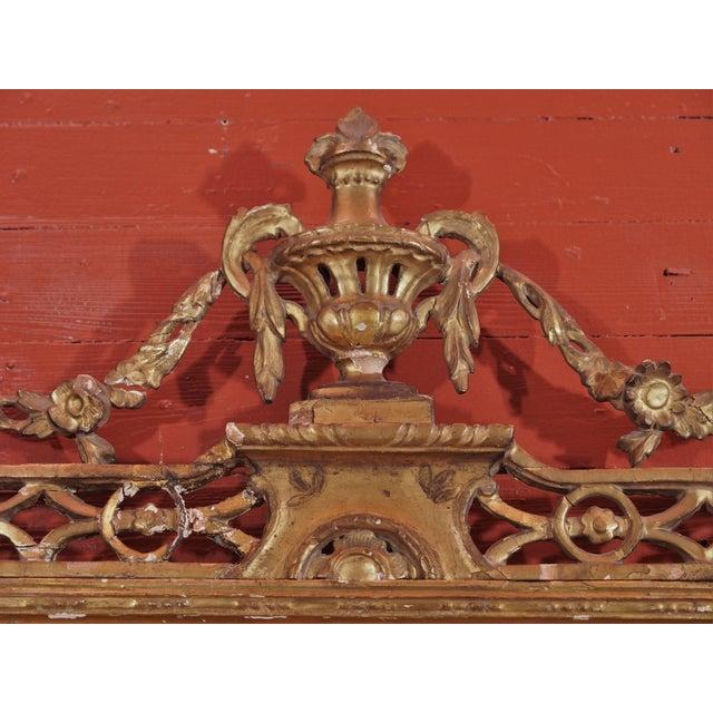 Louis XVI 19th Century Italian Gilt Wood Mirror For Sale - Image 3 of 8