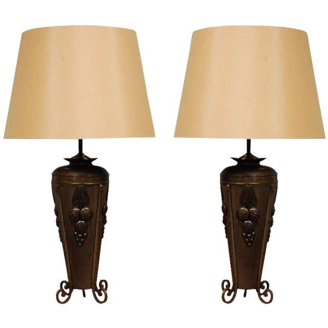 Antique French Deco Urns as Table Lamps - A Pair - Image 1 of 6