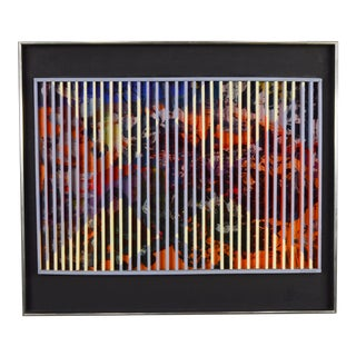 1970's Colorful Louis Nadalini Abstract Painting For Sale