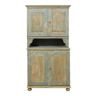 18th Century Swedish Late Gustavian Wood Cabinet For Sale