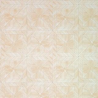 Schumacher X Celerie Kemble Bone Frame Wallpaper in Natural For Sale