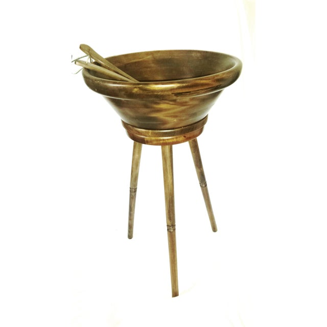 Mid-Century Modern Tripod Salad Bowl For Sale