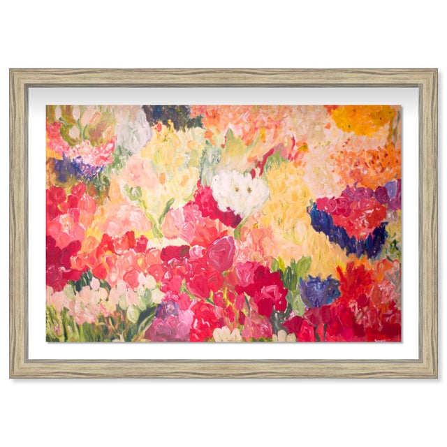 "Oliver Gal Medium 'Claire Sower- Tuppence a Bunch' Framed Art 26"" x 18"" For Sale In Miami - Image 6 of 6"