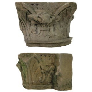 Pair of Early 18th Century Architectural Stone Fragments For Sale
