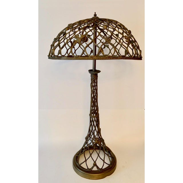 Open Work Lamp With Shell Motif Chairish