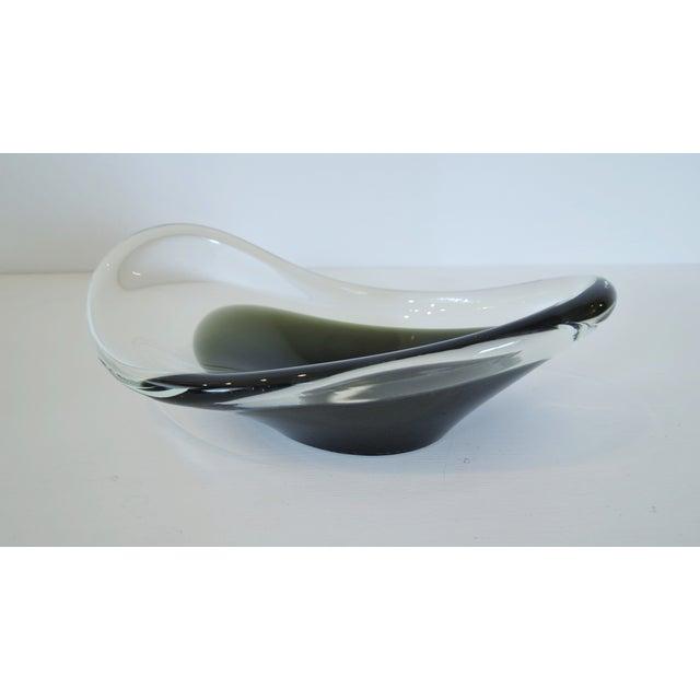 Vintage Swedish Modern Blown Glass Bowl - Image 3 of 7