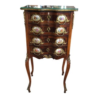 Antique French Limoges Walnut Cabinet