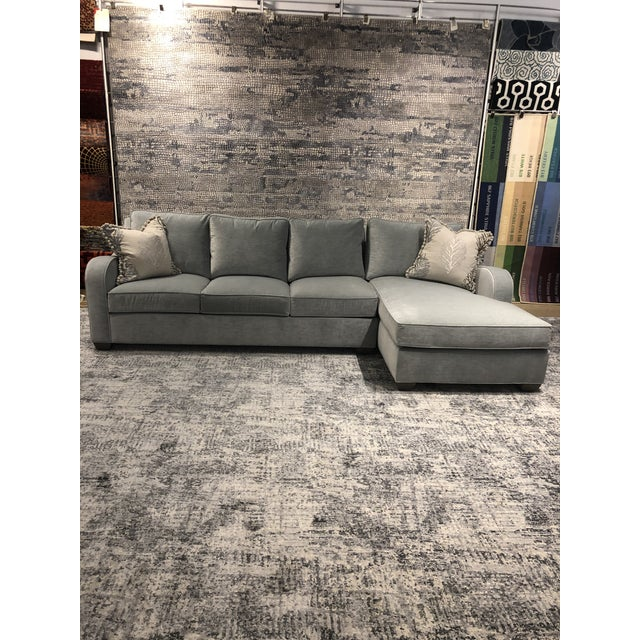Swaim Factory Transitional 2-Pc Sectional with Pillows For Sale - Image 12 of 12