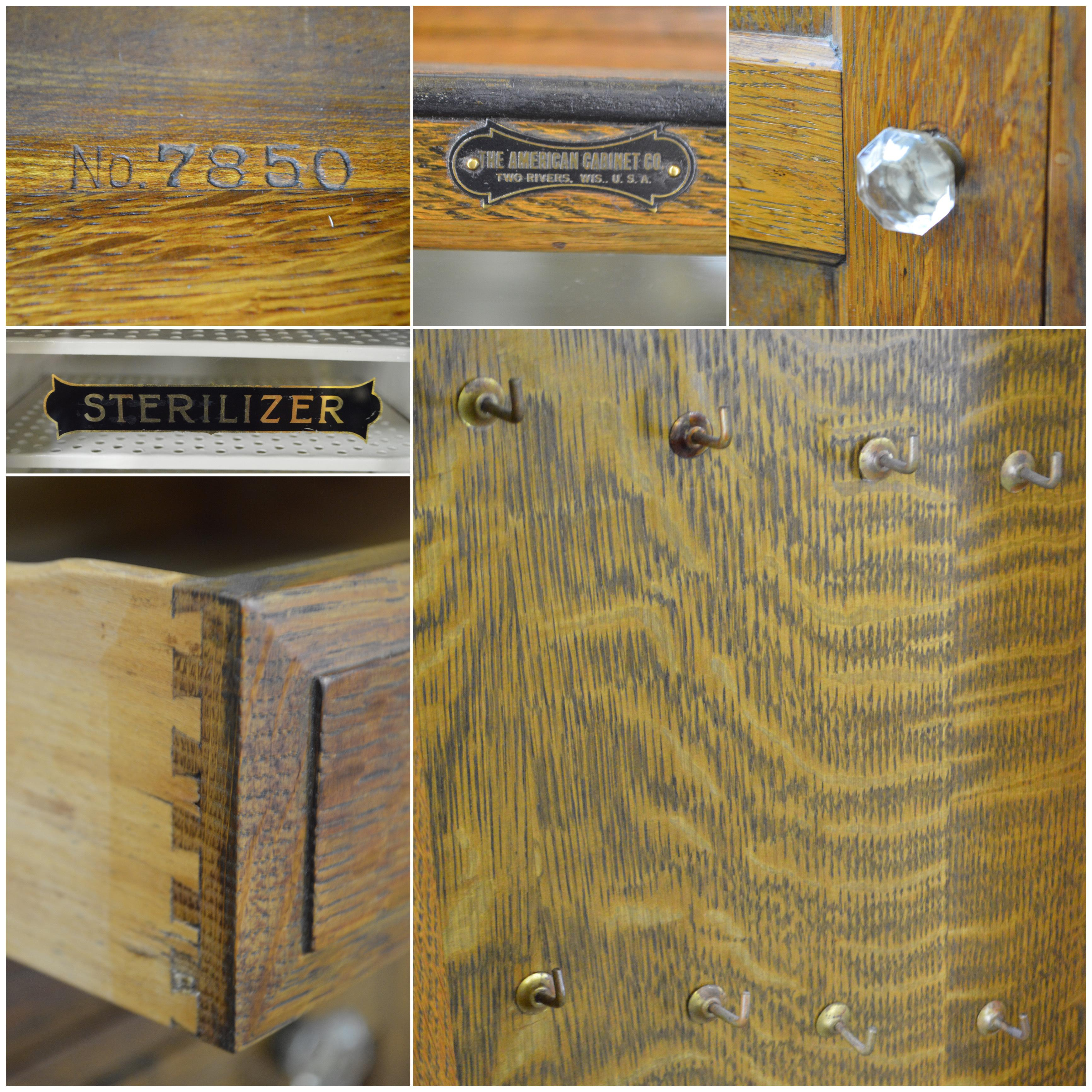 Antique Oak Dentist Cabinet By The American Cabinet Co Chairish
