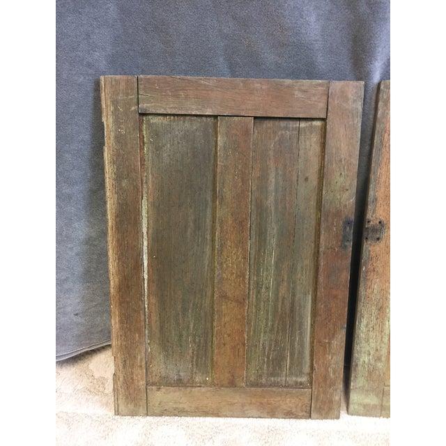 Vintage Rustic Wood Cabinet Doors - A Pair - Image 3 of 11