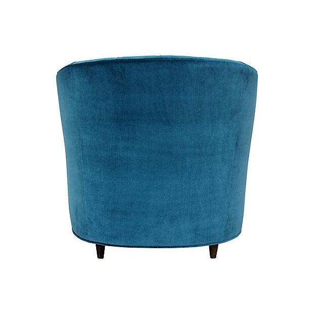 Tufted Velvet Bucket Chair For Sale - Image 4 of 9