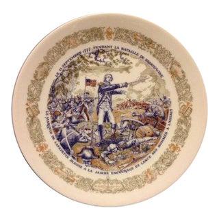 """""""Pendant La Bataille De Brandywine"""" Limoges Plate For Sale"""