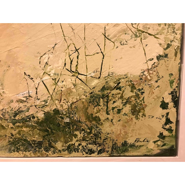 Abstract Expressionism An Abstract Landscape Oil Painting by Robert Eadie For Sale - Image 3 of 5