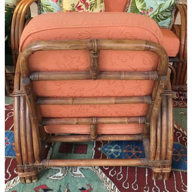 Vintage Mid Century Rattan Set Chairs & Loveseat For Sale - Image 11 of 13