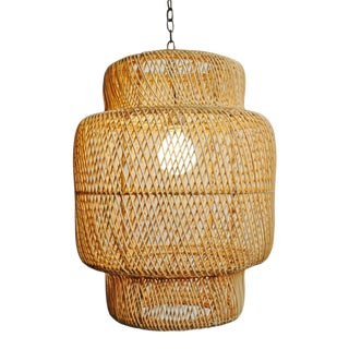 Natural Wicker Liberty Lantern Small