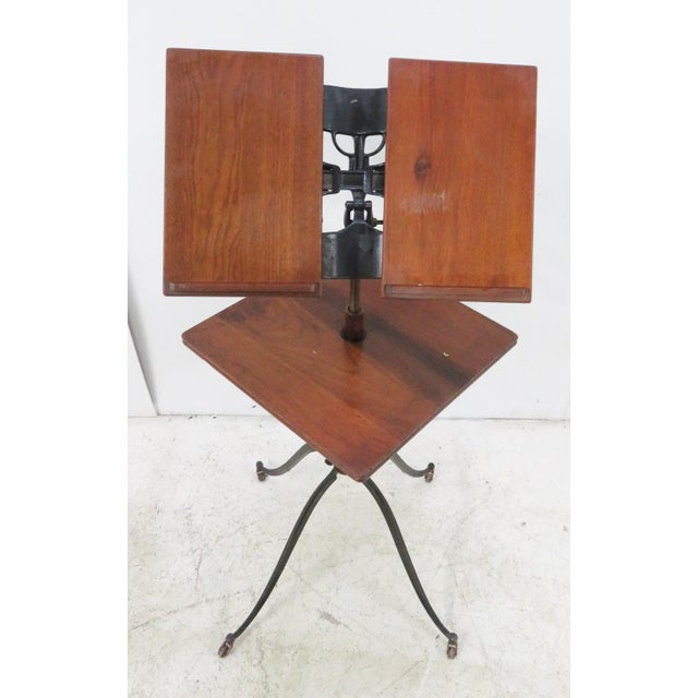 Victorian Victorian Industrial Adjustable Book Podium For Sale - Image 3 of 7
