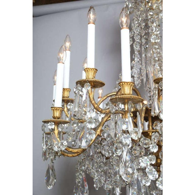Crystal & Bronze 18-Light Chandelier from the Ritz Carlton on Palm Beach - Image 4 of 10